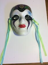 4in Mardi Gras Hand Painted Ceramic Mask masquerade  New Orleans, Gorgeous