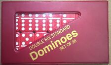 Red Standard Double Six  Dominoes w/ Red Case w/ FREE Shipping