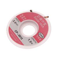 2mm Desoldering Braid Solder Remover Wick Copper Spool Wire 0.75m AWZY