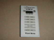 West Bend Bread Maker Machine Control Panel with Power Control Board model 41088