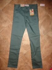 "Boy's Levis 510 Super Skinny ""WaterFront"" Green Pants Size 14 NWT"