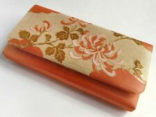 Vintage JapaneseGold Metalic Brocade Clutch Bag For Use When Wearing Kimono: M