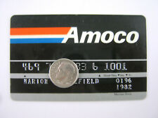 Vintage Amoco CREDIT CARD Gas Oil Service Station 1990s Petroliana General Store