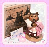❤️Wee Forest Folk BB-13 Grandma with Baby Bear Fairytales Special Pink Hearts❤️