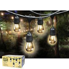 Feit Outdoor Weatherproof String Light Set 48ft / 24 Light Sockets w/ 36 Bulbs