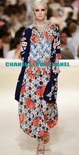 CHANEL 15C $6.2K PARIS DUBAI FLOWER CASHMERE CARDIGAN JACKET COAT,38/40,NEW