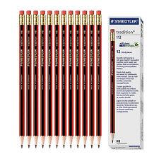 12pcs X STAEDTLER tradition 112-HB Pencil with eraser tip