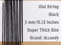 Radio Dial Cord 24 Ft BRAIDED Nylon String 3mm BLACK for Vintage Radio Tuner