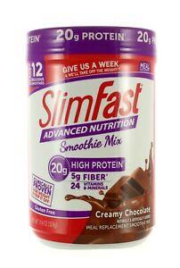 SLIMFAST ADVANCED NUTRITION HIGH PROTEIN SMOOTHIE MIX CREAMY CHOCOLATE - BB 2/21