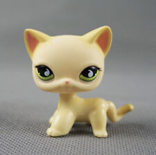 Littlest Pet Shop LPS22 Yellow & Cream Short hair Kitty Cat Green Eyes