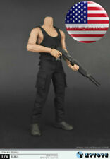 1/6 Black Vest Pants Bane Rambo Stallone First Blood Sylvester Hot Toys ❶USA❶