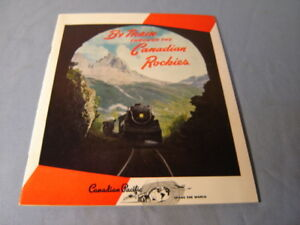 Vintage By Train Through Canadian Rockies Canadian Pacific Mag 1950 Scrapbook