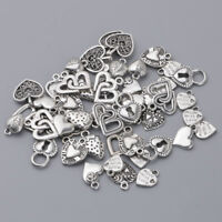 100pcs Silver Charms mixed lot grab bag FREE SHIPPING