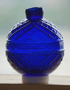Vintage Glass Target Ball. St Quentin. Oakley / Bogardus Area. Cobalt Blue. Mint