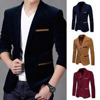 Luxury Jacket Slim Tuxedo Suit Tops One Fit Business Men's Blazer Coat Button