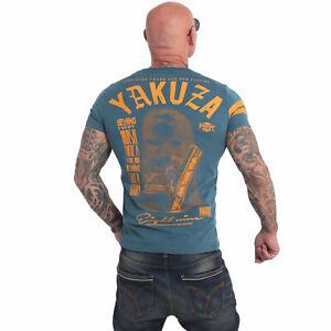 Neues Yakuza Herren Ulster T-Shirt – Mallard Blue