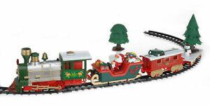Großer Weihnachtszug 91x44 cm - 22-teilig + Musik - Deko Weihnachts Zug Mini Zug