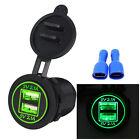 5V 4.2A Dual USB Charger Socket Adapter Power Outlet for 12V 24V Motorcycle Car^