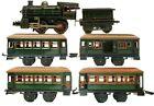 VINTAGE PRE-WAR KARL BUB LARGE 0-35 CLOCKWORK PASSENGER TRAIN SET
