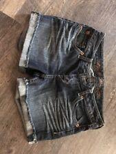 Express Women's Size 2 Light Wash Cuffed Denim  Jean Shorts