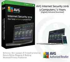 AVG Internet Security 2016 - 3 Computers / 2 Years | Delivered through email