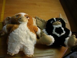 """Gremlins movie 15"""" plush toys lot of 2 Factory doll black and white brown"""