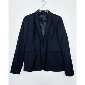 J. CREW Campbell Blazer Super 120s Wool Suiting Jacket Career Black size 10