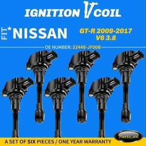 6x NEW Ignition Coils Pack for Nissan GT-R GTR R35 V6 3.8L 2008-2015 VR38DETT