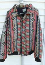 Made in USA KEY Cowboy UP Salmon Pink Indian Blanket Jacket