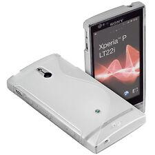 Protect Silikon Case trsp f Sony Xperia P LT22i Schutz Hülle Tasche Silicon