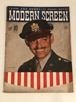 MODERN SCREEN MAGAZINE - July, 1943 - CLARK GABLE