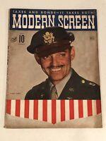 MODERN SCREEN MAGAZINE - July, 1943 - CLARK GABLE