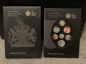 THE ROYAL MINT 2008 EMBLEMS OF BRITAIN UNCIRCULATED COIN COLLECTION ROYAL SHIELD