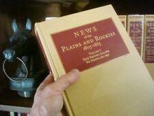 9 Vol Set NEWS OF PLAINS & ROCKIES 1803-1865 Overland Adventure ARTHUR H CLARK