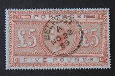 GB QV 1867 £5, Belfast Postmark, SG#137, COPY / REPLICA