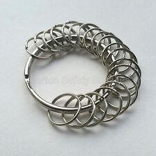 Large (58mm) 20 x Multi-Ring Jailers Fob / Keyring / Split Ring (FREE P&P)