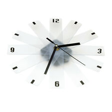 Transparent Modern Compact Wall Clock Home Office Decor Gift Living Room Art UK
