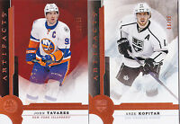 16-17 Artifacts John Tavares /55 COPPER Orange Parallel Islanders 2016