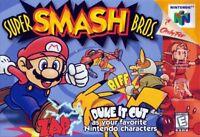 OEM Super Smash Bros Nintendo 64 N64 Authentic Mario Video Game Brawl Melee Rare