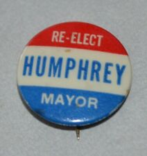 Vintage Humphrey for Mayor pinback button