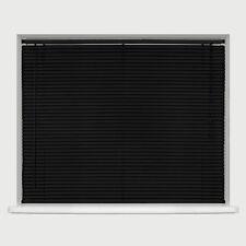 PVC VENETIAN BLINDS - CREAM WHITE BLACK - 150cm &  210cm DROP AVAILABLE