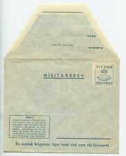 Sweden military postal stationery envelopes x2 unused Militarbrev (V884)