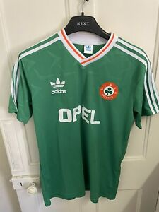 Republic Of Ireland Football Shirt - Home - World Cup 1990 - Large