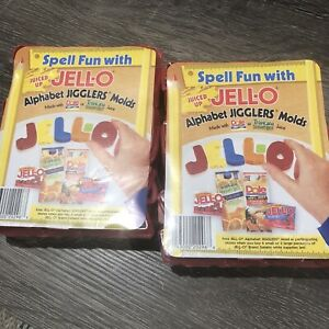 Jello Jell-o Alphabet Jigglers Molds Cutters Lot of 2 Unopend