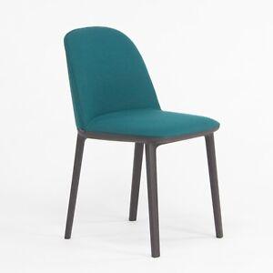 2019 Vitra Softshell Side Chair w/ Teal Blue Fabric by Ronan & Erwan Bouroullec