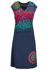 Desigual Women Dress Size-XL Draped Belly A-Line Stretch Magic Ethnic Print