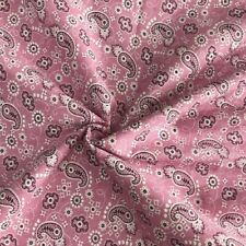 Retro Paisley Floral Printed Fabric 100% Cotton Clothing Accessories DIY Craft