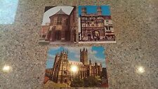 LOT of 3 CANTERBURY CATHEDRAL postcards (Water Tower, Christ Church gateway, SW)
