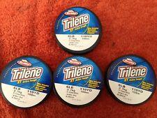 Lot of 4 Berkley Trilene Extra Tough 6lb 110yd 100m Clear/Blue .10in .25mm