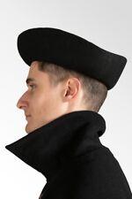 Venetian Barchetta Hat in Wool Felt (Black) - Size 59 - Unisex